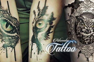 Profesionální tetování o rozměru 10 × 15 cm v Adrenalin Tattoo...