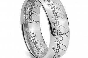Prsten moci z Pána prstenů z chirurgické oceli- stříbrný SR000056 Velikost: 10...