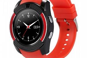 Chytré hodinky V8 s kamerou a slotem na sim kartu- 4 barvy SMW00026 Barva: Červená...
