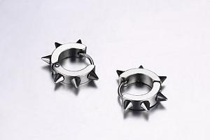 Ziskoun náušnice z chirurgické oceli SE00003 Barva: Stříbrná...