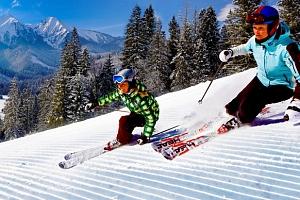 Lyžování pro celou rodinu ve Ski Monkova dolina...