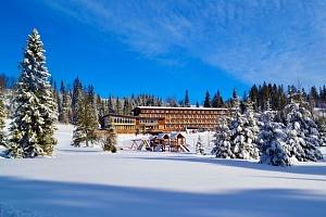 Rodinné lyžování na Slovensku z hotelu Magura přímo u svahu...