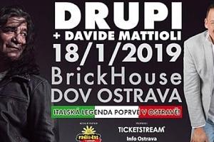 2 lístky na DRUPI & DAVIDE MATTIOLI v Ostravě 18.1.2019...