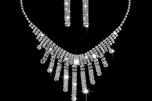 Ziskoun plesový set náušnic a náhrdelníku se zirkony CS000041...