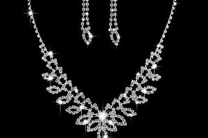 Ziskoun plesový set náušnic a náhrdelníku se zirkony CS000048...