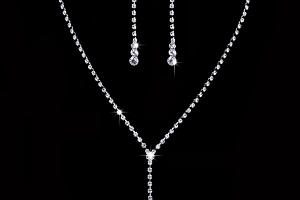 Ziskoun plesový set náušnic a náhrdelníku se zirkony CS000058...