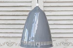 Stropní lampa Enamel grooves grey...