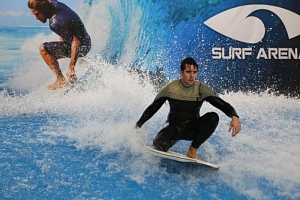 Indoor surfing...