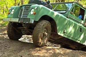 Offroad jízda v Land Roveru...