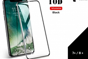 Tvrzené sklo 10D Full cover pro Iphone 7+/ 8+ 0,3mm -černá TVSK13...