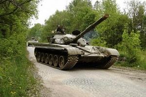 Řízení obrněného bojového tanku T-55...