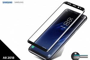 Tempered Glass Protector 3D pro Samsung A8 2018 - 0,3 mm - černá TVSK19...