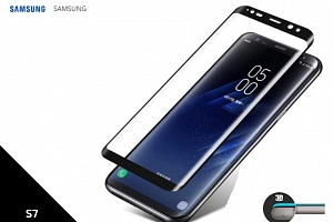 Tempered Glass Protector 3D pro Samsung S7- 0,3 mm - černá TVSK27...