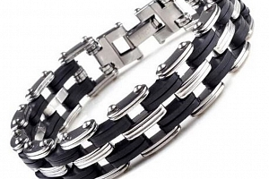Náramek z chirurgické oceli řetěz Quattro chain ON20...