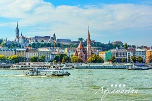 Budapešť neobyčejně ve 4* historickém botelu na Dunaji s lahví šampaňského a snídaněmi + platnost…...