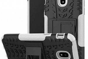 Pevný zadní kryt pro Samsung J5-2017 se stojánkem PZK2 Barva: Bílá...