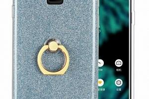 Silikonový lesklý zadní kryt pro Samsung Note 9 se stojánkem PZK17 Barva: Modrá...