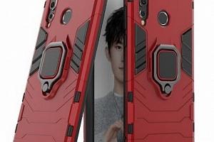 Pevný zadní kryt se 360° stojánkem pro Huawei Nova 3 PZK41 Barva: Červená...