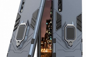 Pevný zadní kryt se 360° stojánkem pro Honor 7C PZK40 Barva: Modrá...