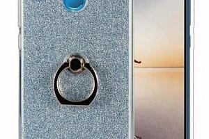 Silikonový lesklý zadní kryt se stojánkem pro Honor 7C PZK50 Barva: Modrá...