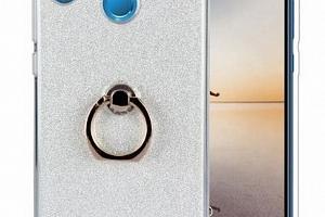 Silikonový lesklý zadní kryt se stojánkem pro Huawei P20 PZK42 Barva: Bílá...