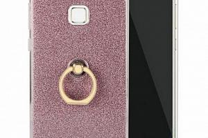 Silikonový lesklý zadní kryt se stojánkem pro Honor 8C PZK51 Barva: Růžová...