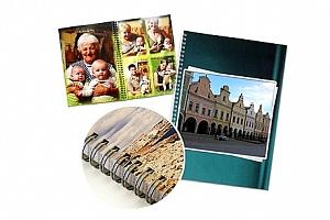 Kroužková fotokniha v kvalitním provedení, na výběr 12 - 92 stránek Vašich zážitků....
