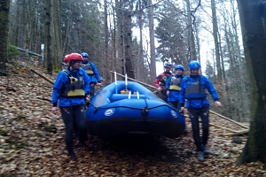Rafting na rozvodněné Jizeře – přírodní peřeje...