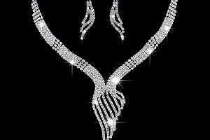Ziskoun plesový set náušnic a náhrdelníku se zirkony CS000044...