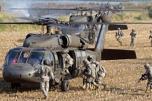 Vrtulníkový výsadek...