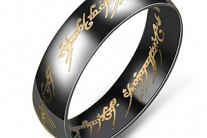 Prsten z chirurgické oceli- Pán prstenů- Lord of the Rings- černý SR124 Velikost: 6...
