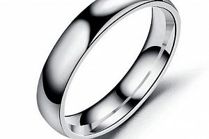 Prsten z chirurgické oceli- Classic- stříbrný SR00004 Velikost: 12...