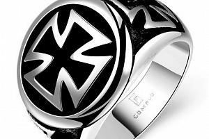 Masivní prsten Helvétský kříž chirurgické oceli SR131 Velikost: 10...