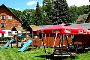 Pobyt v Krkonoších pro dva s polopenzí, multifunkční hřiště, venkovní bazén, vyžití pro děti....