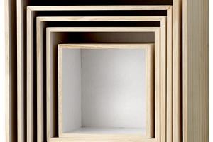 Nástěnný box Nature/White Velikost 4 (kód PODZIM2019 na -20 %)...
