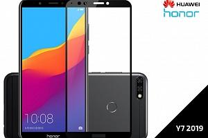 Tvrzené bezpečnostní sklo Full Cover pro Huawei Y7 2019 s černým rámečkem...