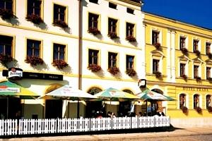 Ubytování v 3*hotelu Praha pro dva snídaně, vydatné čtyřchodové večeře. Úschova kol....