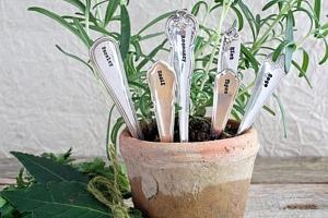 Postříbřené zápichy na bylinky Herb Planters - set 6 pcs (kód PODZIM2019 na -20 %)...