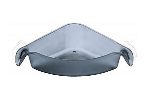 BOKS držák rohový, box, zásobník do koupekny na šampón, gel... KOZIOL (barva-TRANSP. ČERNÁ)...