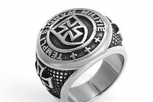 Templářšký kříž- prsten z chirurgické oceli SR146 Velikost: 10...