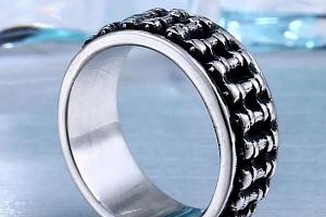 Masivní řetěz- prsten z chirurgické oceli SR152 Velikost: 10...