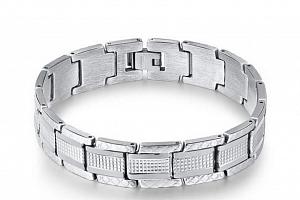 Náramek z chirurgické oceli - stříbrný ON47...
