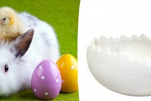 Originální keramická miska skořápka. Velikonoční doplněk do Vašeho interiéru....