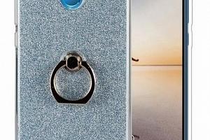 Silikonový lesklý zadní kryt se stojánkem pro Huawei Y5 2018 PZK53 Barva: Modrá...