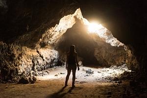 Zábavná trasa v jeskyni...