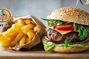 Švejk burger s hranolky pro 1-2 osoby v Praze...