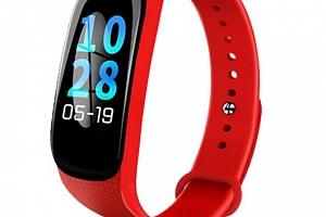 Fitness náramek M5- model 2019- 3 barvy SMW45 Barva: Červená...