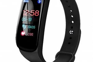 Fitness náramek M5- model 2019- 3 barvy SMW45 Barva: Černá...