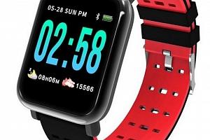 Fitness náramek A6- 5 barev SMW44 Barva: Červená...
