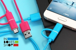 USB kabel Golf GC-20 s konektorem micro USB a redukcí USB-C...
